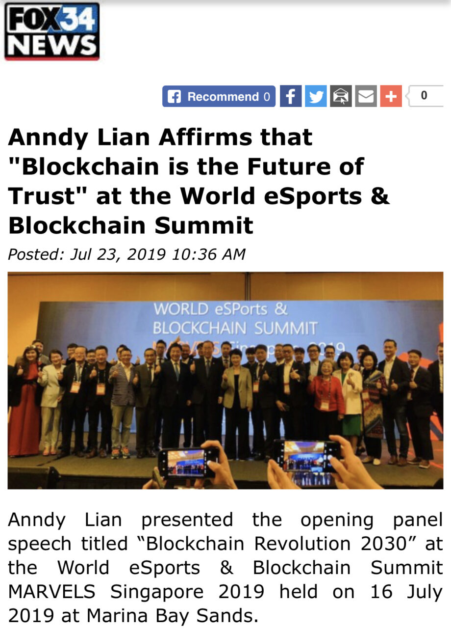 """Thank you FOX News for the coverage """"Blockchain is the Future of Trust"""""""