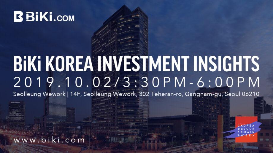 Panelist at BiKi Korea Investment Insights @Korea Blockchain week