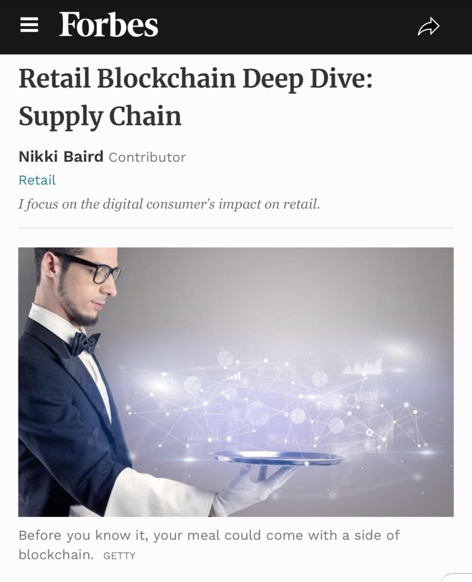 Forbes- Retail Blockchain Deep Dive: Supply Chain