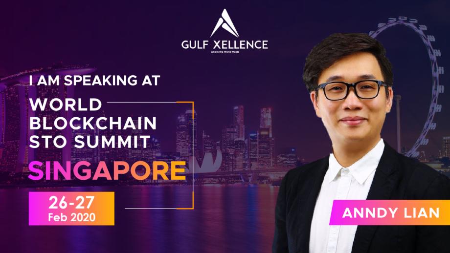 Anndy Lian Will Speak at World Blockchain STO Summit 2020 in Singapore