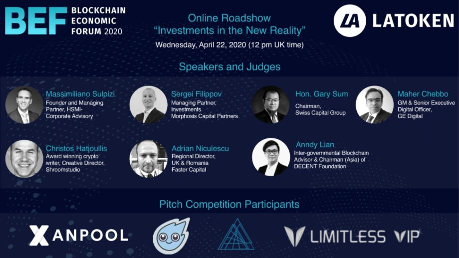 """Speaker and Judge for Blockchain Economic Forum 2020 """"Investments in the New Reality"""""""