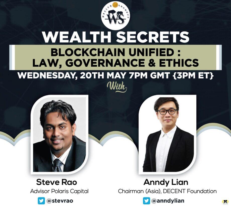 "Anndy Lian Speaks at Wealth Secrets ""Blockchain Unified: Law, Governance & Ethics"""