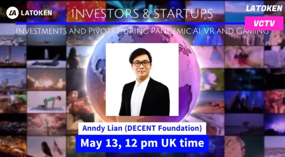 """Anndy Lian Shares His Perspectives on """"Investments and Pivots during Pandemic: AI, VR, and Gaming"""" on May 13th"""
