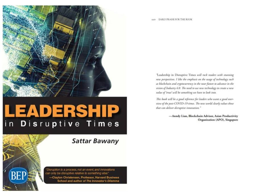 """Anndy Lian endorses the book """"Leadership in Disruptive Times"""" (2020)"""