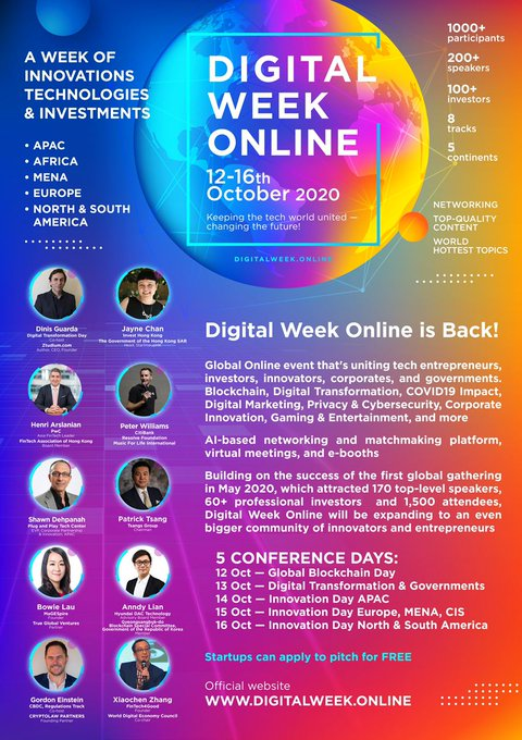 "Anndy Lian to Share his Knowledge on Blockchain Trends at ""Digital Week Online"" Led by InvestHK"