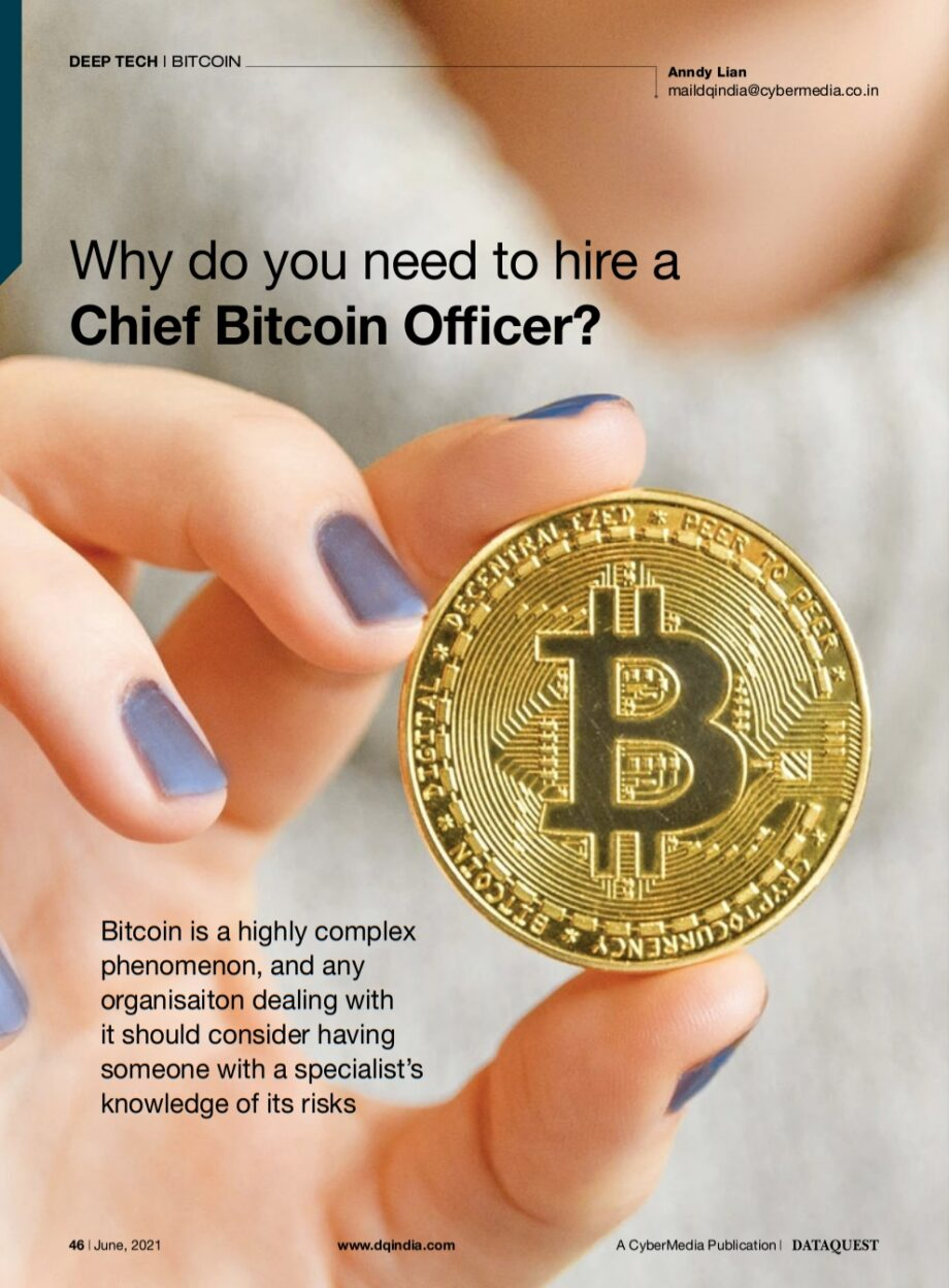 Anndy Lian: Why do you need to hire a Chief Bitcoin Officer?
